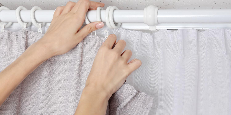 vaskning af bruseforhæng